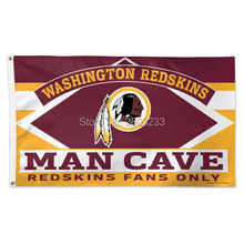 2017 Washington Redskins MAN CAVE Outdoor American Football College Flag 3X5FT Drop Shipping Custom Club Sport Flag
