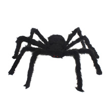 1pcs New Halloween Horrible  Big Black Furry Fake Spider Size 30*10cm Creep Trick Or Treat   Halloween Decoration Drop Shipping