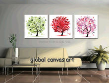 New 3 panel free shipping Modern Home Decoration Abstract Color ornaments Wall Art canvas Print oil painting canvas art framed(China)
