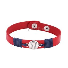 6pcs/lot! Wholesale Jewelry Adjustable Sports Team St. Louis Baseball Bracelet Fahion Custom Wristband Cuff For Women Men