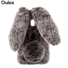 Dulcii Bunny Design Rhinestone Warm Fur TPU Phone Case Accessory for Samsung Galaxy J3 (2017) (EU Version) - 5.0 inch(China)