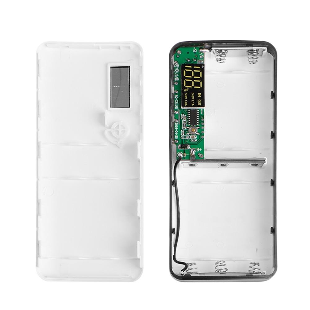 image for 3 USB Ports 5x 18650 DIY Portable Battery Holder LCD Display Power Ban