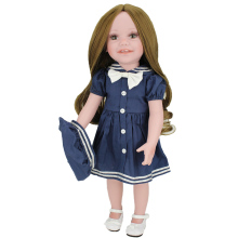 18'' America Girl Doll Full Vinyl Body Play Dolls Long Hair Wig Christmas Gift for Kids Journey Girls Fashion Holiday Doll