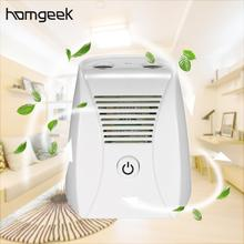 Homgeek Mini Ozone Generator Negative Ions Air Purifier Portable Ionic Air Ionizer Odors Dust Remover Deodorizer EP200 for Home