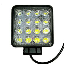 1pcs 4.2inch 12V 24V 48W off road Flood Square LED Work Light Lamp for car Truck Vehicle Driving Boat