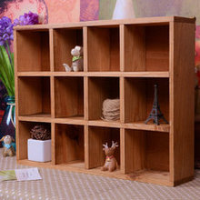 Basket Organizador Storage Box Zakka 12 Grids Wall Cabinet Condole Ark Locker Wood Desktop Perfume Cosmetics free Shipping