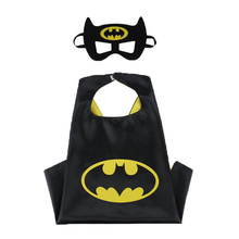 Children's Poncho Capes Superhero Comic Book Hero Cape & Mask Kids Fancy Outfit Super Hero Costume for Children Gift(China)