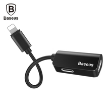 Baseus L37 Male to Dual Female 8 Pin Audio Charging Adapter Designed for iPhone 7 8 Plus for iOS 10 -11 3.5MM Headphone Jack