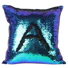 Cover for Kids Super Soft Pillowcases 40 x 40 cm Glitter Sequins Solid Color Pillow Case Sequins Pillow Cover(China)