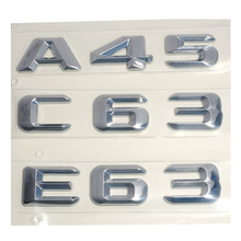 3D ABS Plastic A 45 A45 C 63 C63 E 63 E63 Trunk Rear Logo Badge Emblem Sticker for Mercedes Benz W176 AMG A Class A45 C63 E63(China)