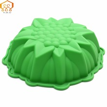 Diy Medium Dimensional Flowers Cake Mold Food-Grade Silicone Bakeware Reception Banquet Birthday Cake Mold Free Shipping