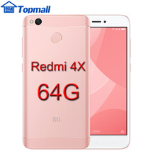 Original Xiaomi Mobile phone Redmi 4X 4GB  64GB ROM Snapdragon 435 4100mAh Battery  5.0 Metal Body google store  Fingerprint ID