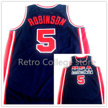 #10 Reggie Miller jersey #5 David Robinson  #6 Derrick Coleman TEAM USA JERSEY Retro Basketball Jerseys custom any sizes,all nam