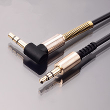 WamGra 3.5mm  aux cable 3.5mm male to male 90 degree right angle flat audio cable for car / PM4 PM3 / headphone aux cord