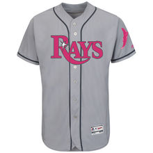 MLB Men's Tampa Bay Rays Baseball Gray Mother's Day Flex Base Team Jerseyey(China)