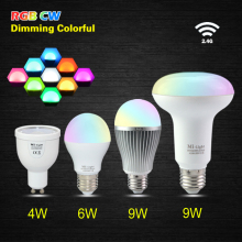 E27 GU10 2.4G Wireless Dimmable Mi Light MILight RGBW RGB+COOL WHITE RGB/WW RGB+WARM WHITE 4W/6W/9W PAR30 LED Dimmable Bulb Lamp