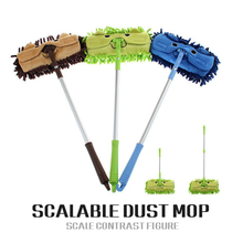 Hot Sell Mini mop handy easy mops floor / car/ window cleaning new chenille telescopic removable dust mop Chenille cartoon(China)