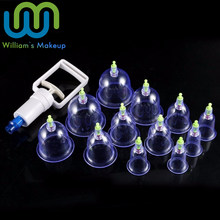 12 pc/Set Medical Vacuum Cupping with Suction Pump Suction Therapy Device Set herapy Kit body Relaxation Healthy Massage Set(China)