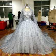 Buy ball gown lace wedding dress 2017 princess bride gowns wedding vetidos de noiva embroidery royal train lace bridal dresses ) for $449.25 in AliExpress store