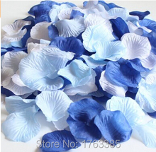 900 x Mixed Royal Blue Aqua Blue White Artificial Silk Rose Petals Wedding Favour Table Scaters Confetti  Party Decoration