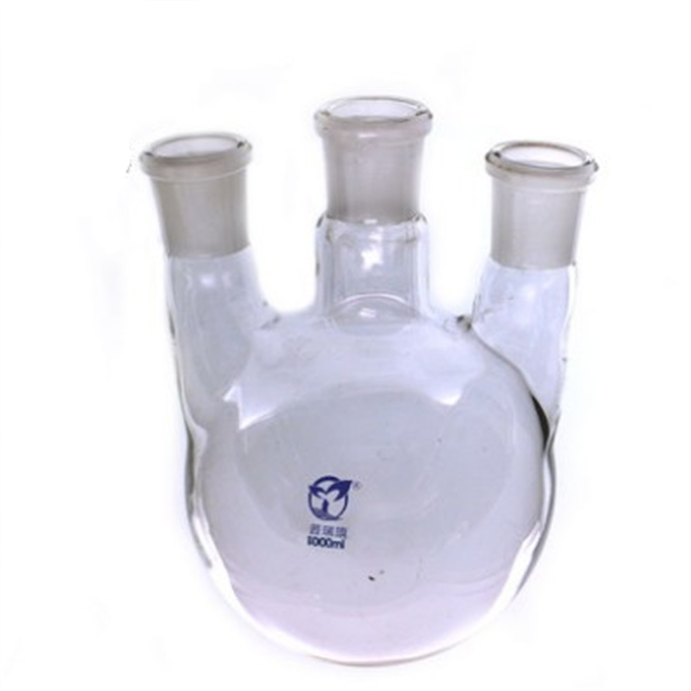 1000ml,24/29*3,3-neck,Round bottom straight Glass flask,Lab Boiling Flasks,Three neck laboratory glassware<br>