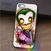 SCOZOS joker old school tattoo 2 cell phone case for iphone X 4 4s 5 5s 5c SE 6 6s 6 plus 6s plus 7 7 plus 8 8 plus #EF278(China)