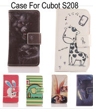 ABCTen Samrt phone skin Cover protection Card Slot PU Leather Flip design Colorful wallet Printed Case For Cubot S208