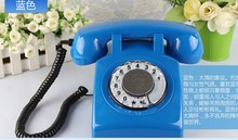 Retro ringing tones Rotate dial 1960 antique telephones(China)