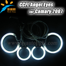 Best quality colorful CCFL angel eyes 85MM& 105MM for cars 8000K white high brightness 12v angel eyes headlamps for Camry 2007