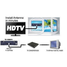 Digital Indoor TV Antenna Recieve High Definition TV Signals for free HDTV DTV Box Ready HD VHF UHF Flat Design High Gain