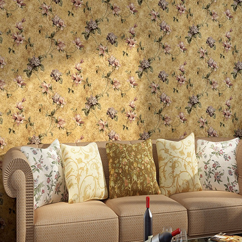 Free Shipping New American Retro Rural Pastoral Nonwovens Wallpaper Bedroom Living Room Background Wall Wallpaper<br>