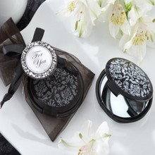 100pcs+Cheap Wedding Favors Reflections Elegant Black-and-White Pocket Mirror Bridal Shower Favor and Gift+FREE SHIPPING
