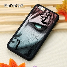 MaiYaCa gaara naruto cartoon fashion soft mobile cell Phone Case Cover For iPhone 6 6S Custom DIY cases luxury shell(China)