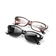 MINCL/new Reading Glasses Grey Lens Fashion Men and Women Spring Hinge Plastic Presbyopia Glasses Outdoor fishing sunglasses FML