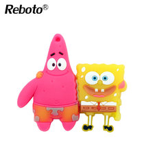 Cartoon cute Sponge Bob usb flash drive 64GB Patrick Star USB Flash Drive 32GB Memory Stick 16GB Thumb Pendrive 8GB 4GB Gift(China)