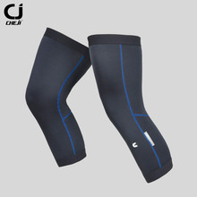 CHEJI Mountain Blue Strip Sunscreen Cycling Leg Sleeve Cover Knee Warmer Perneras Ciclismo MTB Road Bicycle Cycling Leg Warmers(China)