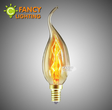 Vintage edison light bulb retro candle lamps e14 incandescent bulb 110v 220v decoration light for home bombillas ampoule vintage(China)