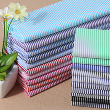 Cotton nylon stretch cotton yarn dyed Casual Shirts fine stripe fabric multi color tooling