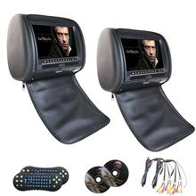 Car headrest DVD player 9 inch HD TFT Screen car dvd player with FM Game Mp3/mp4/dvd/cd wireless Game pad headrest video player