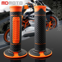 "7/8"" 22mm Rubber Motorcycle Anti-Skid HandleBar handle bar Motorbikes Hand Grips For KTM DUKE RC 125 200 390 690 1290 R(China)"
