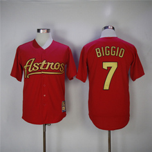 MLB Men's Houston Astros Craig Biggio Jerseys(China)