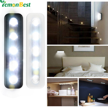 LemonBest Mini Wireless Wall Light Closet Lamp 5 LED Night Light Home Lighting for Under Kitchen Cabinets
