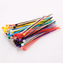 "200 PCS BLACK RED Green Blue Yellow purple CABLE TIES 100mm x 2mm 4"" ZIP TIE Network Nylon Plastic Cable Wire Zip Tie Cord Strap(China)"