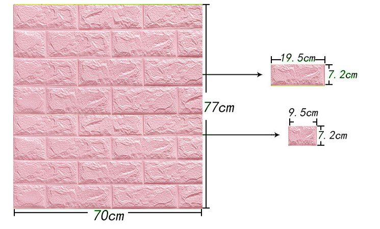 70x77cm-DIY-3D-Wall-Stickers-PE-Foam-Safty-Home-Decor-Wallpaper-Wall-Decor-Brick-Living-Room (2)