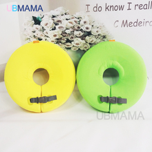 High quality safety baby need not inflatable floating green ring round the neck round floating ring toy baby swimming pool