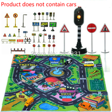 2016 Rushed Promotion Carro Children's Toys Scene Car Parking Lights Set Of Traffic Signs Signpost For Kids Gift Educational Toy