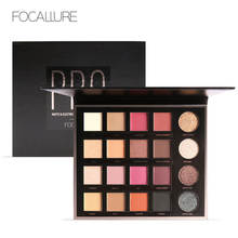 FOCALLURE 20 Colors Matte Eyeshadow Shimmer Glitter Eye Shadow Palette Magic Star Collection(China)