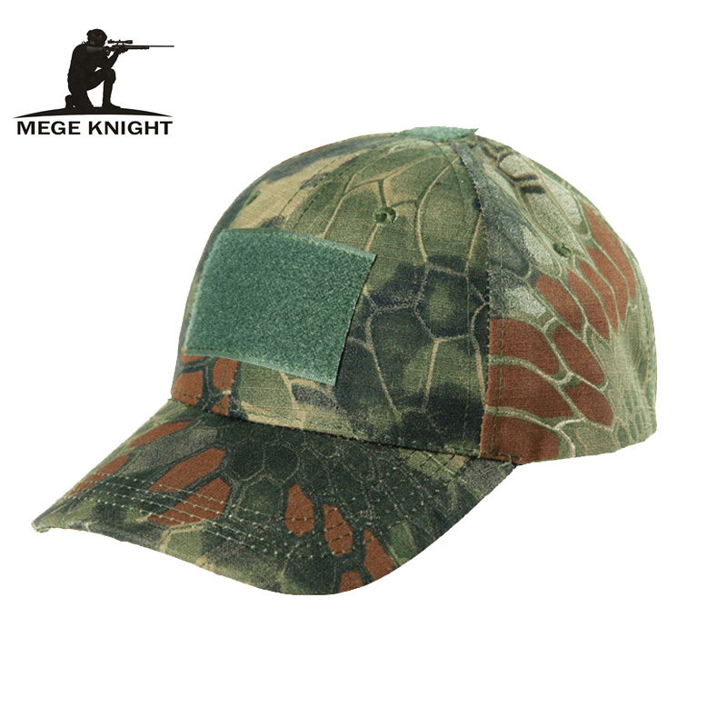 MEGE Unisex Summer Fashion Hat with Front  Velcro,  Airsoft Paintball  Tactical Camouflage Mens army Python Pattern<br><br>Aliexpress