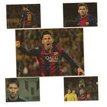 Soccer star Messi poster Bar Pub Cafe Vintage old Paper Retro Poster Antique Wall Sticker Home Decoration(China)