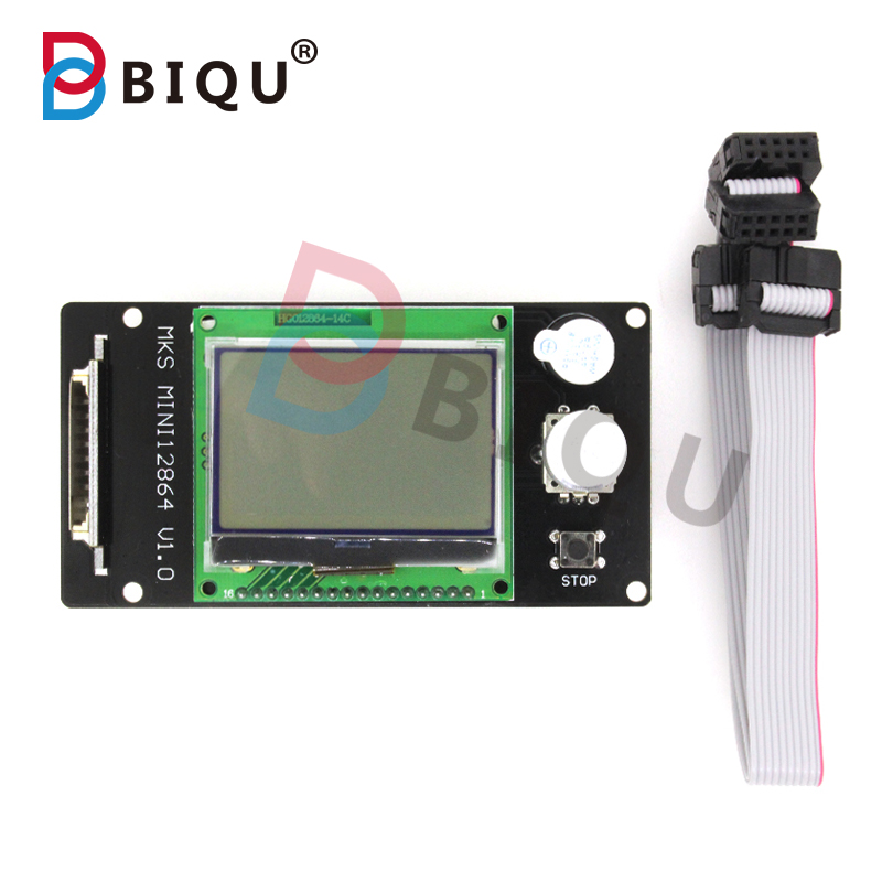BIQU MIN I12864 LCD Display Marlin DIY 3D Printer Accessories SD Card Is Inserted Version More Suitable For Small 3D Printers<br><br>Aliexpress